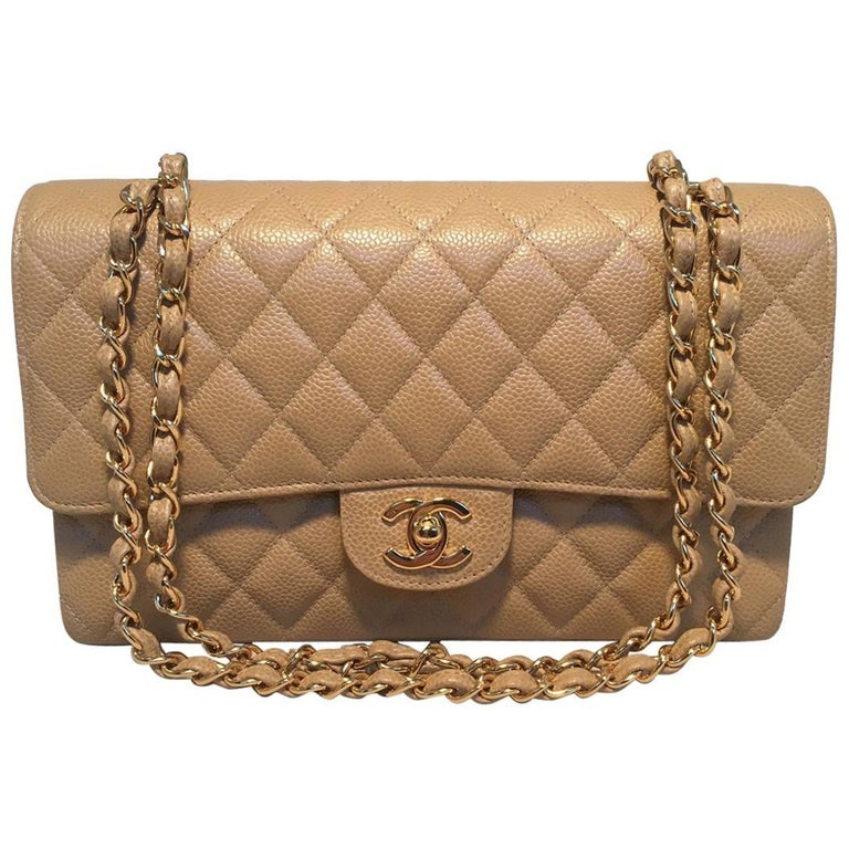 87740c198aa7 Chanel Tan Caviar 10