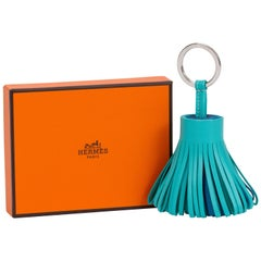 New in Box Hermes SOLD OUT Tricolor Tassel Keychain