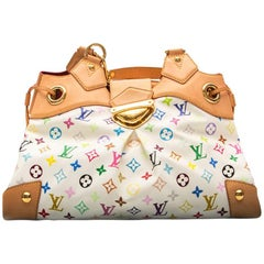 Louis Vuitton White Monogram Multicolour Ursula Tote Bag