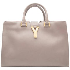 Yves Saint Laurent Grey Cabas Bag