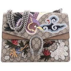 Gucci Dionysus Handbag Embroidered GG Coated Canvas Medium
