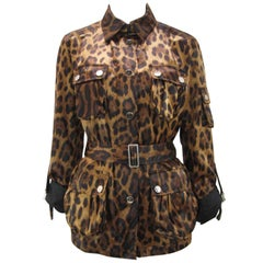 Dolce & Gabanna Leopard Print Cargo Jacket