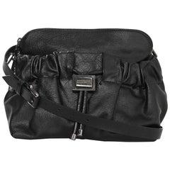 Burberry Black Leather Drawstring Crossbody Bag rt. $995
