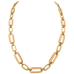 Givenchy Lucite & Brushed Gold Chain Link Opera Necklace