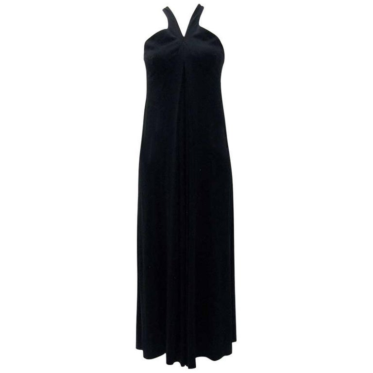 Gianfranco Ferre Black Jersey Cocktail Dress For Sale
