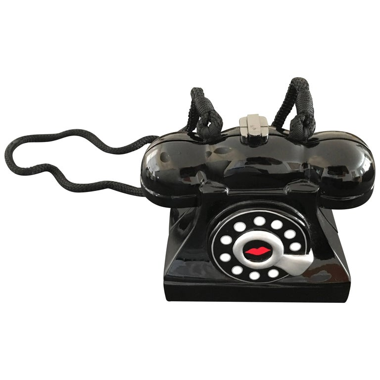 1stdibs Timmy Wood Marilyn Whimsical Phone Purse Signed B84o3IV