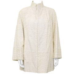 1970s Cream Broadtail Swing Jacket