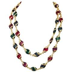 Swanky Swarovski Multi Color Crystal Necklace