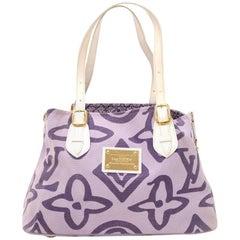 Louis Vuitton Tahitienne Cabas PM Leather x Cotton Tote Handbag – Limited