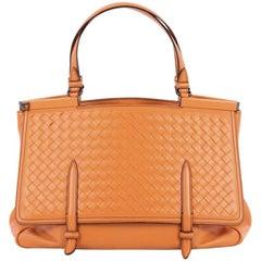 Bottega Veneta Monaco Convertible Satchel Leather with Intrecciato Detail