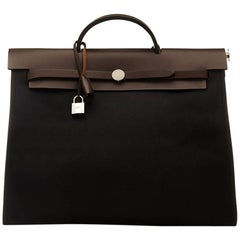 Hermes Herbag Canvas Tote Bag