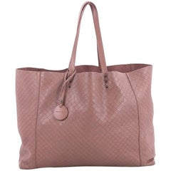 Bottega Veneta Tote Butterfly Embossed Intrecciomirage Intarsio Leather L