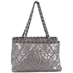 Chanel Chain Me Tote Quilted Calfskin Small