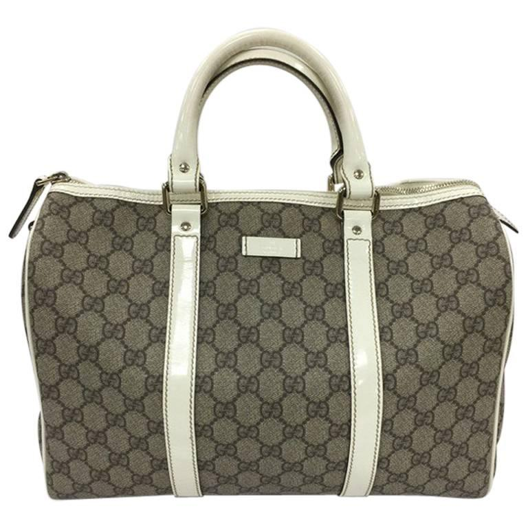 Gucci Joy Boston Bag Gg Coated Canvas Medium For