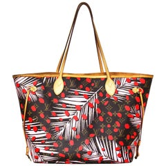 Louis Vuitton Limited Edition Palm Spring Jungle Neverfull MM Tote Bag
