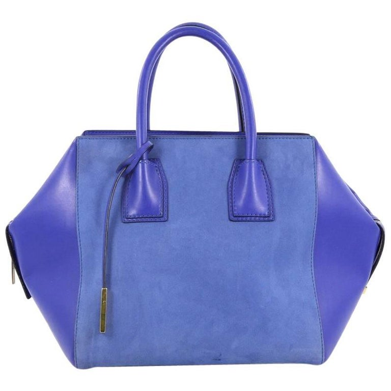 Stella McCartney Cavendish Boston Bag Faux Suede and Faux Leather Large