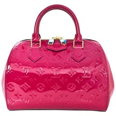 Louis Vuitton Indian Rose Pink Monogram Vernis Montana Bag with DB