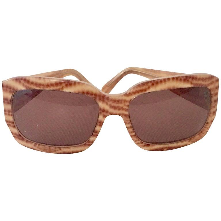 Salvatore Ferragamo Animal Print Sunglasses