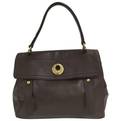 Saint Laurent Muse Two Handbag Leather with Canvas Medium