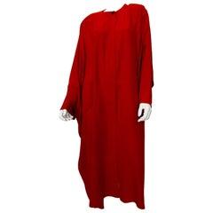 Sonia Rykiel Red Crepe Coat