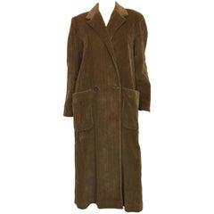 Perry Ellis Tan Wide Wale Corduroy Coat