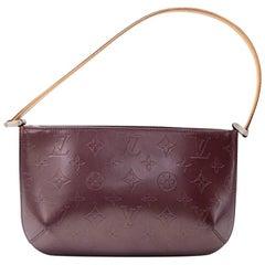 Louis Vuitton Fowler Noir Purple Monogram Matt Leather Hand Bag