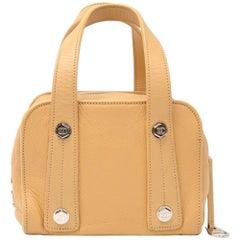 Chanel Beige Calfskin Leather Small Boston Hand Bag