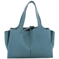 Celine Tri-Fold Shoulder Bag Grained Calfskin Medium