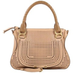 Chloe Marcie Satchel Perforated Leather Medium
