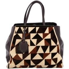 Fendi 2Jours Handbag Cut Velvet Large