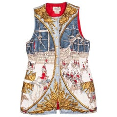HERMES Long Sleeveless Jacket 'Marine e Cavalerie 2 Pluviose Year III 1795'