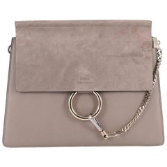 Chloe Faye Shoulder Bag Leather and Suede Medium