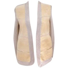 RARE HERMES Waistcoat In Lambskin and Galuchat Size 36 FR