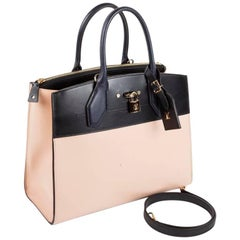 LOUIS VUITTON 'City Steamer MM' Bag in Tricolor Smooth Leather