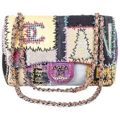 Collector CHANEL 'Jumbo' Bag 'Paris Saint Tropez' in Patchwork of Fabrics