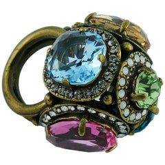 Lanvin Jewelled Dome Ring