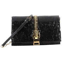 Tom Ford Sedgwick Chain Clutch Sequins and Snakeskin Small