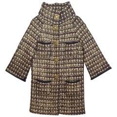 Chanel Wool & Cashmere Metiers d'Art Paris-Byzance Sweater Coat Sz FR38