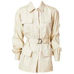 Yves Saint Laurent  Belted Safari Jacket Late 70's