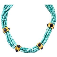 Francesca Romana Turquoise Beaded Necklace