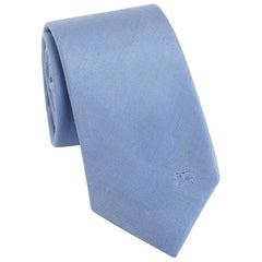"Burberry Rohan Silk Powder Blue Tie - Size: 3"" (8cm)"