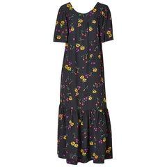 Yves Saint Laurent Floral Pattern Maxi Dress