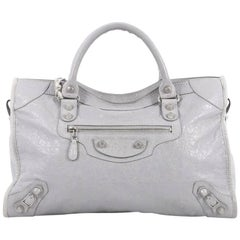 Balenciaga City Giant Studs Handbag Leather Medium