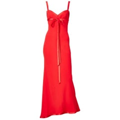 Valentino Crepe and Satin Bias Cut Gown