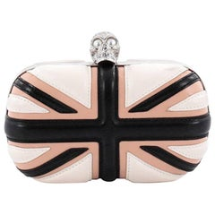Alexander McQueen Britannia Skull Box Clutch Leather Small