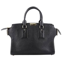 Burberry Clifton Convertible Tote Heritage Grained Leather Medium