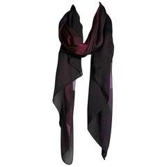 Burberry Ombre Check Silk Plum Scarf