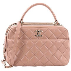 Chanel Trendy CC Bowler Bag Quilted Leather Medium