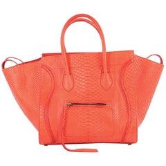 Celine Phantom Handbag Python Medium
