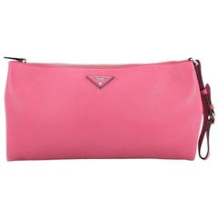 Prada Wristlet Clutch Vitello Daino Large